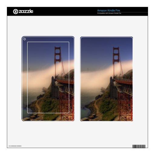 Golden Gate y torre de Sutro Pegatina Skin Para Kindle Fire