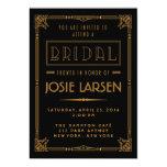 Golden Gatsby Art Deco Bridal Shower Invitations