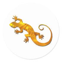 Golden Gecko Stickers