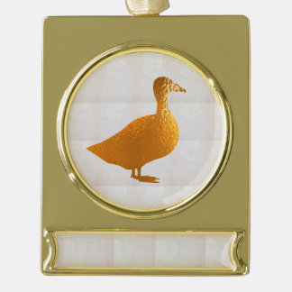 Golden Geese  gold balance Banner Ornament Silver