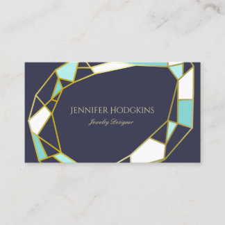 Business cards business card printing zazzle geometric coral white modern faux silver foil color block business card reheart Choice Image