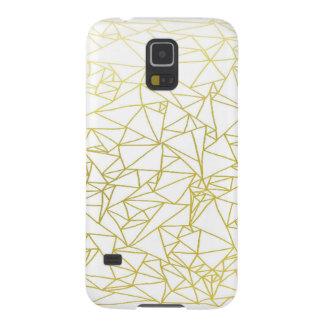 Golden Geo Triangle Design Samsung Galaxy S5 Case