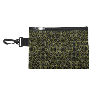 Golden Geo Tribal Pattern Accessory Bag