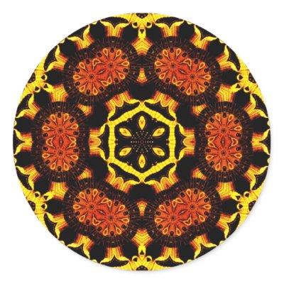 Golden Geometrica Sticker sticker