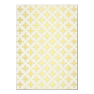 Golden Geometrical Pattern, Light and Bright Card