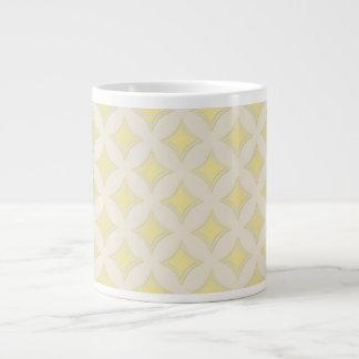 Golden Geometrical Pattern, Light and Bright Giant Coffee Mug