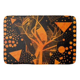 golden geometry bath mat