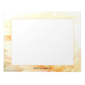 Golden Gerbera Notepad