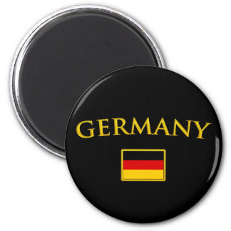 Golden Germany 2 Inch Round Magnet