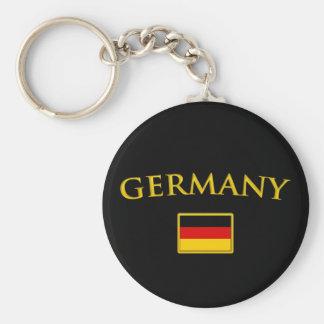 Golden Germany Basic Round Button Keychain