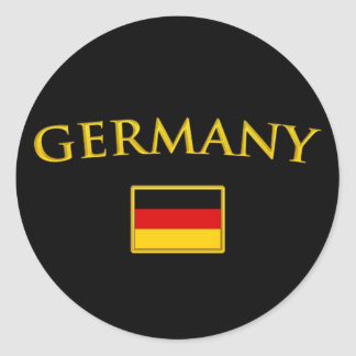 Golden Germany Classic Round Sticker