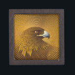 """Golden Gift Box<br><div class=""""desc"""">This Golden Eagle was illustrated after a truly golden afternoon in Oban, along Scotland&#39;s stunning and magical west coast. It was late Autumn and the golden sun was reflecting off the golden hills, and at times the sky seemed full of Golden Eagles. It took UK artist Nick Rumbelow 15 months...</div>"""