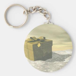 Golden gift for Christmas Keychain