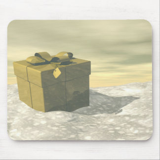 Golden gift for Christmas Mouse Pad