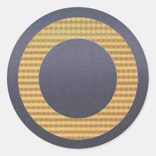 Golden Gift Identifiers - Acrylic Matt Greyish Blu Classic Round Sticker