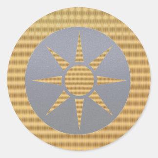 Golden Gift Identifiers - Light Gray Goldstar Classic Round Sticker
