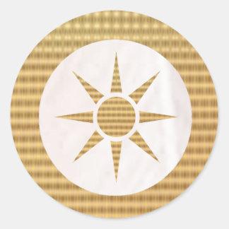 Golden Gift Identifiers - White Pearl n GoldStar Classic Round Sticker