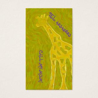Golden GIRAFFE Business Card