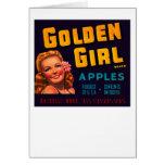 Golden Girl Apples Card
