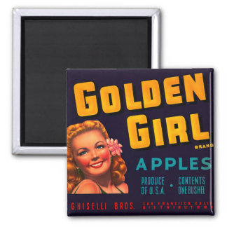 Golden Girl Apples Magnet