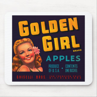 Golden Girl Apples Mouse Pad