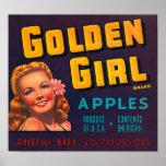 Golden Girl Apples Poster