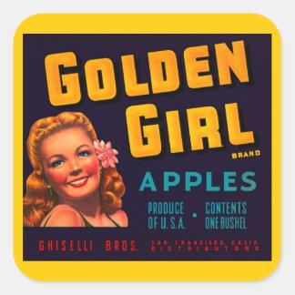 Golden Girl Apples Stickers