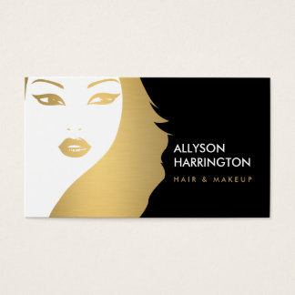 GOLDEN GIRL - BEAUTY FASHION STYLE BUSINESS CARD
