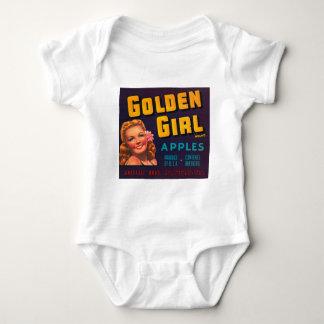 Golden Girl Brand Apples Vintage Advertisment Baby Bodysuit