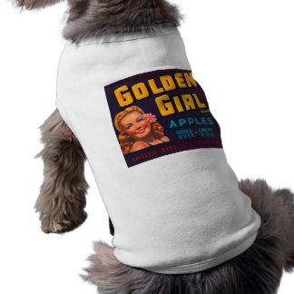 Golden Girl Brand Apples Vintage Advertisment Doggie Tee