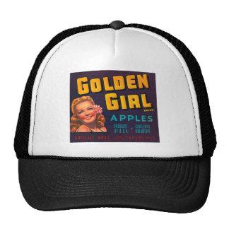 Golden Girl Brand Apples Vintage Advertisment Trucker Hat
