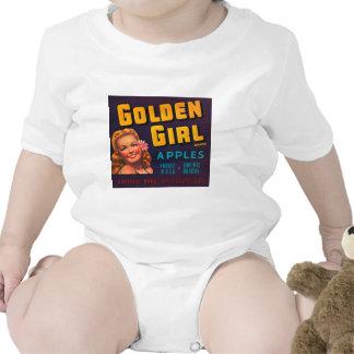 Golden Girl Brand Apples Vintage Advertisment Bodysuits