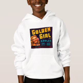 Golden Girl Brand Apples - Vintage Crate Label Hoodie