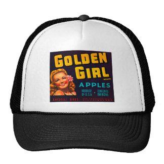 Golden Girl Brand Apples - Vintage Crate Label Trucker Hat