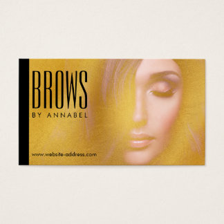 Golden Girl Eyelashes and Brows Cosmetologist Business Card