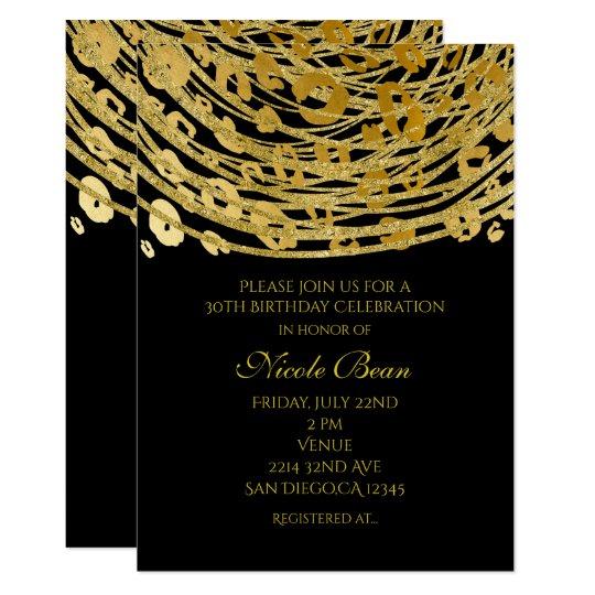 Golden Glam Cheetah Print Exotic Party Invitations Zazzle Com