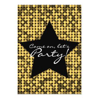 Golden Glam Star Custom Card
