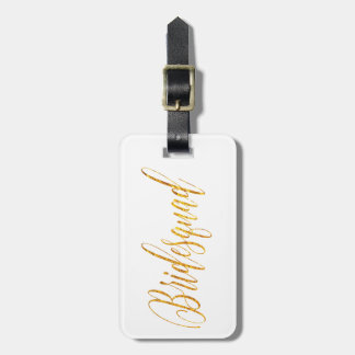 Golden Glamour Flowing Custom Script Luggage Tag