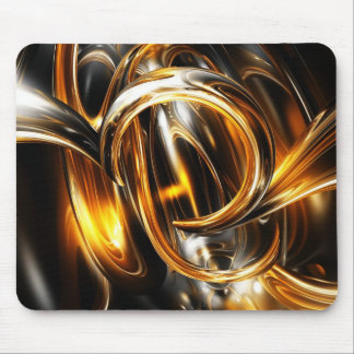 Golden Glass Horns Mouse Pad