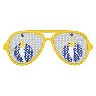 Golden glasses aviator sunglasses