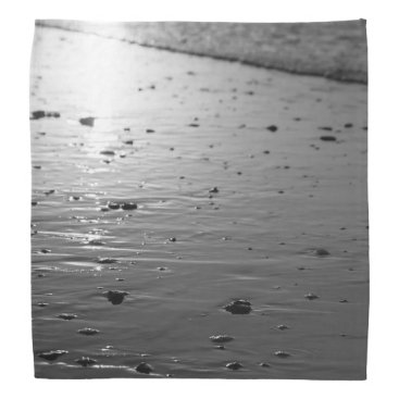 Beach Themed Golden Glassy Sand Grayscale Bandana