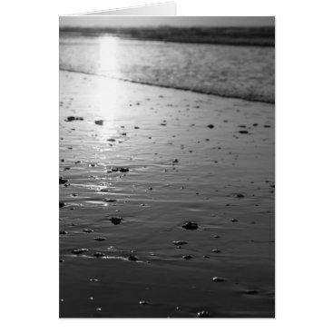 Beach Themed Golden Glassy Sand Grayscale Card