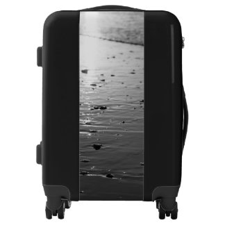 Golden Glassy Sand Grayscale Luggage