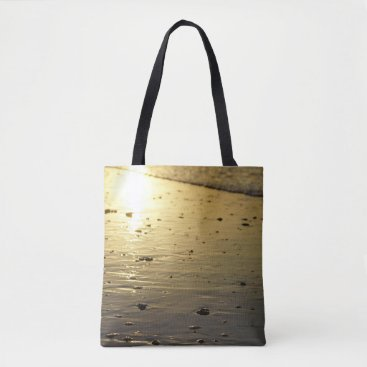 Golden Glassy Sand Tote Bag