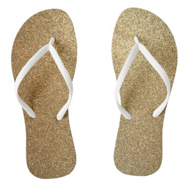 Beach Themed Golden Glitter Abstract Art Slim Strap Sandals