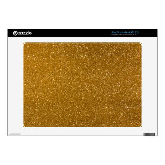Golden glitter acer chromebook skins