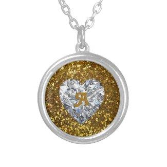 Golden Glitter and Heart Diamond