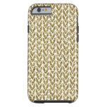 Golden Glitter Chevrons Knit Pattern Print Tough iPhone 6 Case