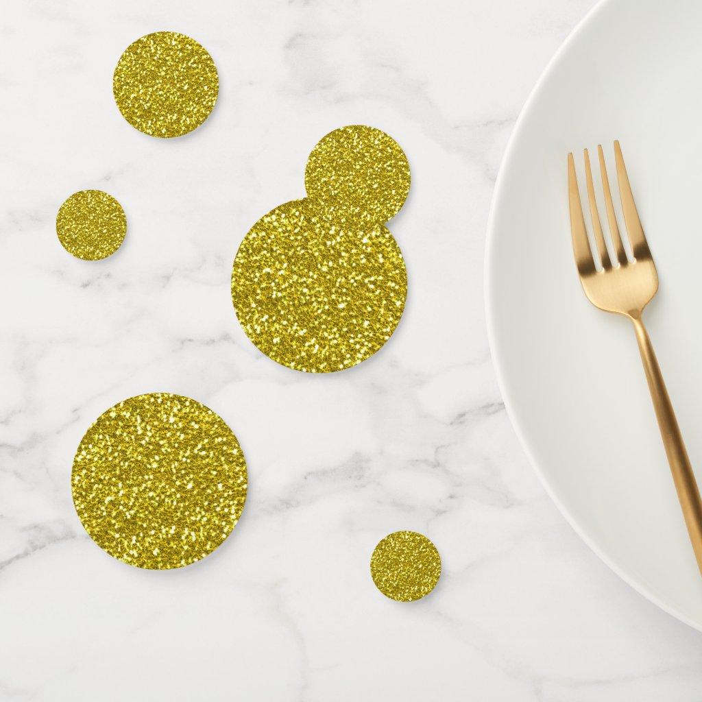 Golden Glitter Confetti