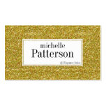 Golden Glitter D1 Appointment Business Cards